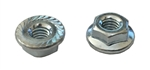M 4 - .7 JIS Hex Flange Nut, Class 8 with Serrations, Zinc
