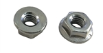 50 M6 - 1.0 Hexagon Flange Nut - Non Serrated Class 8 Zinc. DIN 6923 / ISO 4161