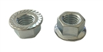 M 10 - 1.50 JIS Hex Flange Nut, Class 8 with Serrations, Zinc
