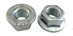 5 M16 - 2.0 Hexagon Flange Nut with Serrations Class 8 Zinc. DIN 6923 / ISO 4161
