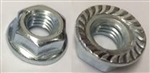 M 8 - 1.25 Hex Flange Nut, Class 8 with Serrations, Zinc. DIN 6923 / ISO 4161