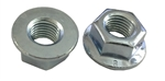 5 M12 - 1.5 Hexagon Flange Nut - Non-Serrated Class 8 Zinc. DIN 6923 / ISO 4161
