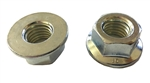 M14 - 2.0 Hexagon Flange Nut - Non-Serrated Class 10 Zinc. DIN 6923 / ISO 4161