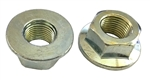 5 M16 - 1.5 Hexagon Flange Nut - Non-Serrated Class 10 Zinc. DIN 6923 / ISO 4161