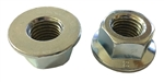 M20 - 2.5 Hexagon Flange Nut - Non-Serrated Class 8 Zinc. DIN 6923 / ISO 4161
