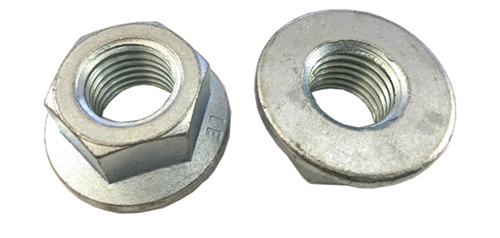 1 M24 - 3.0 Hexagon Flange Nut - Non-Serrated Class 8 Zinc. DIN 6923 / ISO 4161