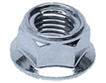 M 8-1.25 FUJI Style Hexagon Flange Lock Nut Steel Zinc