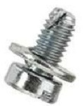 M6 -1.0 x 12mm Slotted Cheese Head SEMS Screws