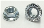 M 7 - 1.0 Hex Flange Nut, Class 8 with Serrations, Zinc. DIN 6923 / ISO 4161