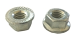 M 8 - 1.25 Top Lock Hex Flange Nut, Class 8 with Serrations, Zinc