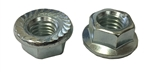25 M10 - 1.5 Hexagon Flange Nut with Serrations Class 10 Zinc. DIN 6923 / ISO 4161