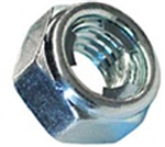 M10-1.5 FUJI Style Hexagon Lock Nut Steel Zinc DIN 980M
