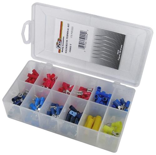 175 Piece Solderless Terminal Assortment In Plastic Kit
