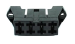 Fuse block body for ATO/ATC type fuses