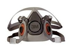 3M Half Face Respirator, Medium, Reusable, 6200