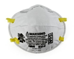 3M Disposable Dust Mask or Particulate Respirator, N95, Series 8210