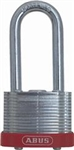 "Steel Laminated Padlock, Red Bumper, 2"" Shackle, ABUS 41382 Ecolution 41 Series"