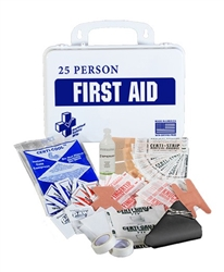 CSM First Aid Kit, 25 Person, Plastic