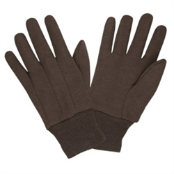 Cordova 100% Cotton Brown Jersey Gloves, Large 1400C