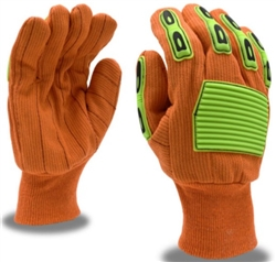 Cordova Hi-Vis Orange Canvas TPR Gloves