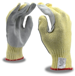 Cordova Kevlar/Cotton Plaited Work Gloves, Side Split Leather Palm, 3095