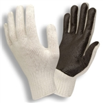 Cordova Knit Glove, White Shell, Black PVC Palm  3870