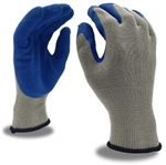 Cordova Blue Machine Knit Glove, Blue Latex Palm 3898