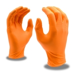 Cordova Orange Nitrile Disposable Gloves, Nitri-Cor Z-Tread, 4093