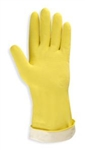Cordova Lined Yellow Latex Gloves, 16 Mil Rolled Cuff