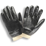 Cordova Black Suported PVC Gloves, Large 5000