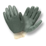 Cordova Green Double Dipped PVC Large Gloves, Knit Wrist