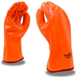 Cordova Hi-Vis Orange PVC Gloves, Large, FreezeBeater, 5700G