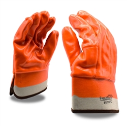 Cordova Foam Lined Double Dipped PVC Large Gloves with Safety Cuff