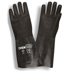 Cordova 14 Inch Black Neoprene Gloves Chem-Cor Rough 5814R