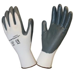 Cordova Cor-Touch II White Shell & Gray Nitrile Coated Gloves