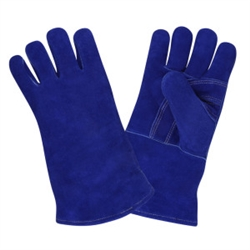 Cordova Welders Glove, Blue Leather,  X-Large, 7610A
