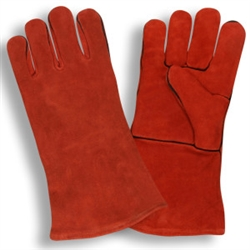 Cordova Leather Welders Gloves, Red, 7630