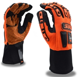 Cordova Orange Leather Mechanics Gloves Ogre, 7701