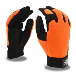 Cordova Orange/Black Leather Mechanics Gloves, Pit Pro, 77071