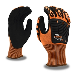 Cordova Ogre Flex Hi Vis Mechanic's Gloves with TPR Protectors