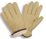 Cordova White Fleece Lined Cowhide Driver's Gloves 8245