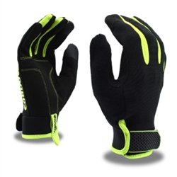 Cordova Hi-Vis Mechanic's Glove, Touchscreen Fingertips, 99401