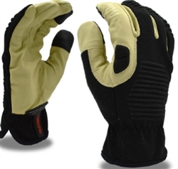 Cordova Leather Mechanic's Glove, Touchscreen Fingertips, 99601