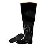 Cordova Rubber Hip Boots, Black, 32 Inch, Lined, BH