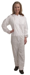 Cordova Heavy 55 Weight White Spunbonded Polypropylene Coveralls COHB55