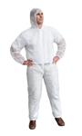 Cordova Disposable Coveralls, Economy, White, Polypropylene, COEH