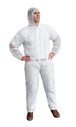 Cordova Coveralls, Economy Weight, White, Polypropylene, COEH