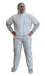 Cordova Disposable Coveralls, White Hood/Boot, COHB35