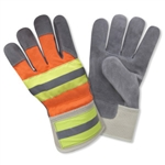 Cordova Hi-Vis Leather Palm Gloves, Large F7250R