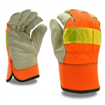 Cordova Lined Hi-Vis Leather Work Gloves F8750
